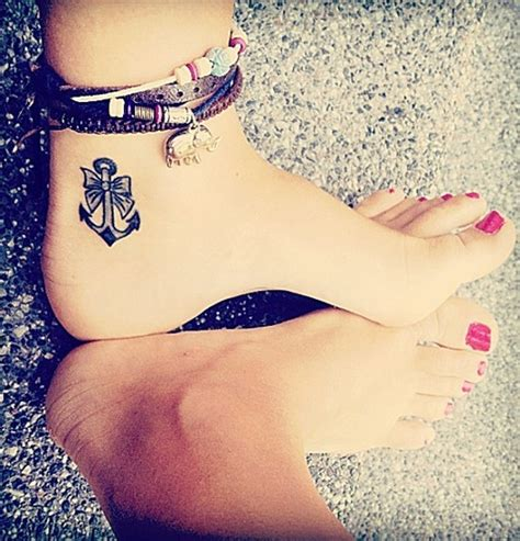 tattoo anchor girl cute anchor on ankle female tattoofemale tattoos gallery