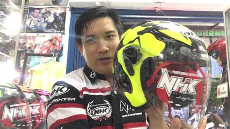 Nhk Helm R6 Solid Helm Nhk R6 Stabilo Corak Magma