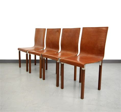 Industrial Dining Room Chairs by Set Of Four Leather Emile Industrial Modern Dining Chairs