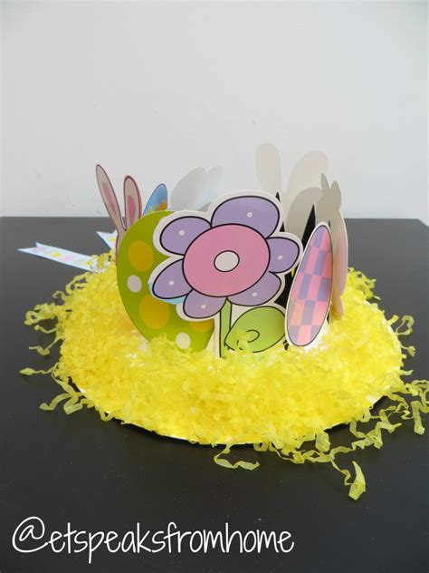 How To Make A Paper Easter Bonnet - how to make an easter bonnet hat using paper plate et