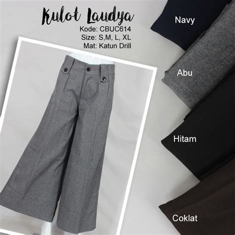 Celana Coklat Bajunya Warna Apa Ya celana kulot laudya celana rok muslim murah batikunik
