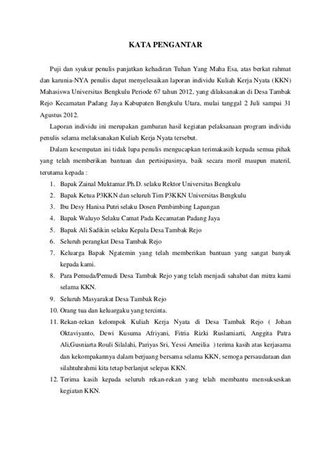 format laporan individu kkn contoh laporan kkn individu viver 233 afinar o instrumento