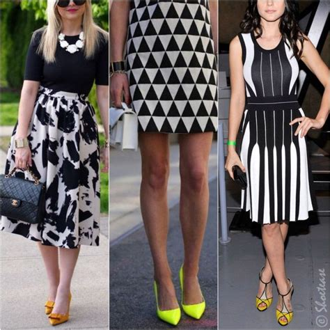 what color shoes with yellow dress what color shoes to wear with black and white dress