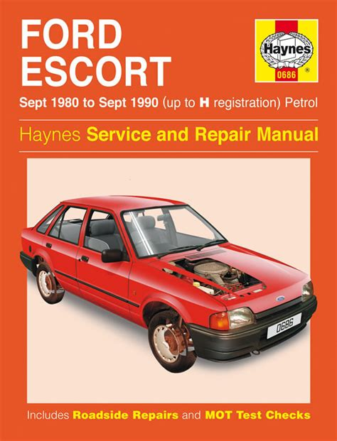 haynes manual ford escort petrol sept 1980 sept 1990