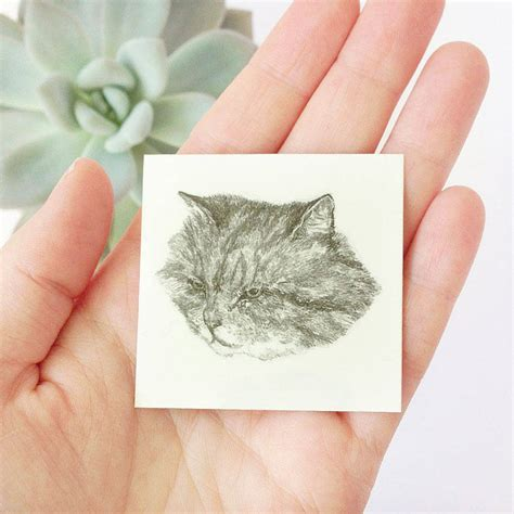 cat tattoo temporary cat temporary tattoos by hello harriet
