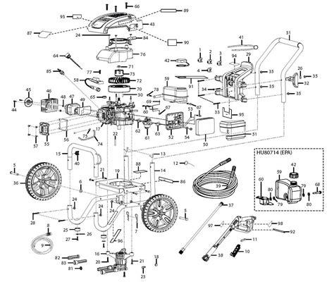 pressure washer parts diagram husky pressure washer diagram 34 wiring diagram