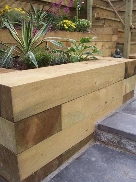Cheap Railway Sleepers Uk by Oak Sleepers Landscaping And Fresh On