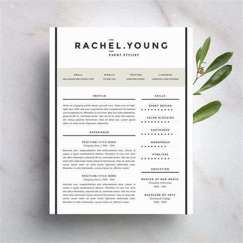 1000 ideas about modern resume template on pinterest