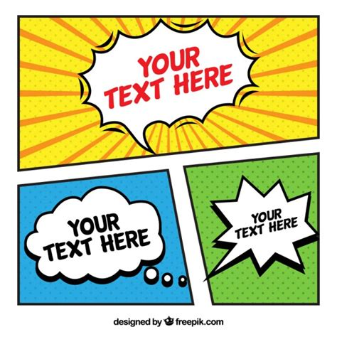 free comic templates pop vectors photos and psd files free