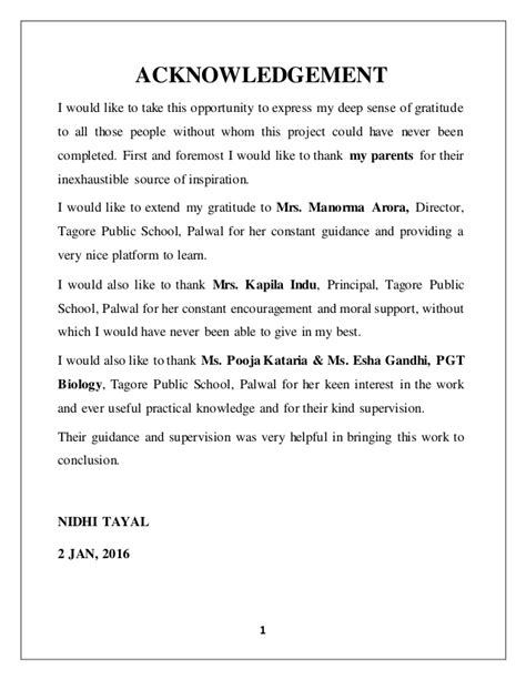 acknowledgement bachelor thesis biology biology investigatory project on pollination of flowers