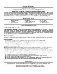 Aircraft Sheet Metal Mechanic Sle Resume by Resume Bullet Form Maintenance Technician Resume Sle Aircraft Maintenance Manager Resume