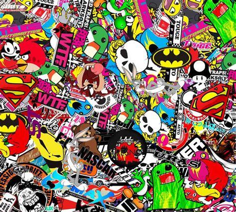 sticker wallpaper sticker bomb 04 ihatedecals car stuff pinterest