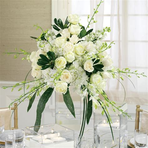 white flower centerpieces gorgeous white flower