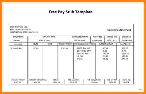 california pay stub template 5 california pay stub template sles of paystubs