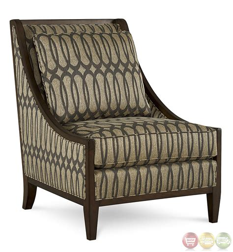 Patterned Accent Chair Mineral Ogee Patterned Fabric Accent Chair