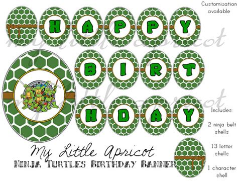 printable ninja turtle birthday banner 6 best images of ninja turtle happy birthday banner