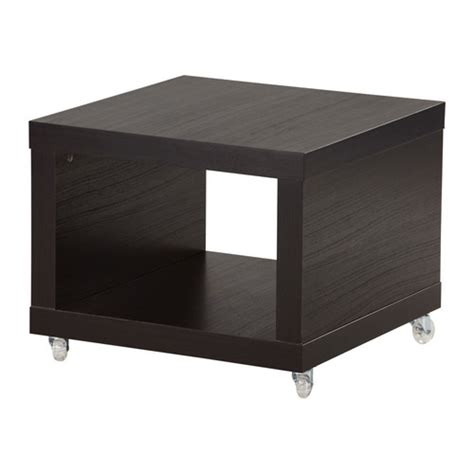 Ikea Dining Table On Wheels Lack Side Table On Casters Black Brown Ikea