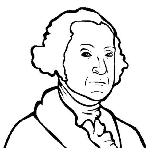 coloring page george washington american revolutionary