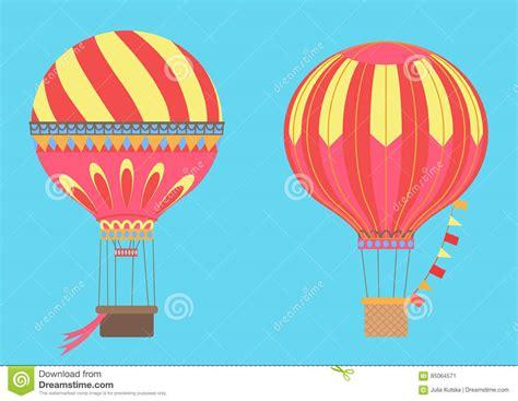 illustrator tutorial hot air balloon vintage hot air balloons in sky vector illustration