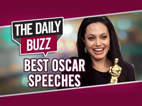 Oscar Buzzing Begining In by The Daily Buzz Memorable Oscar Speeches