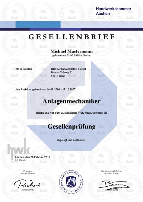 Kfz Lackierer Hannover by Gesellenbriefe Kaufen Gesellenpr 252 Fung Gesellenbrief Kaufen