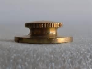 light flat brass knurled knob l flat brass knurled
