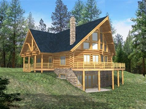 Cabin Houseplans by Log Cabin With Wrap Around Porch Log Cabin House Plans