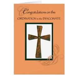 diaconate ordination congratulations cross deacon greeting card zazzle