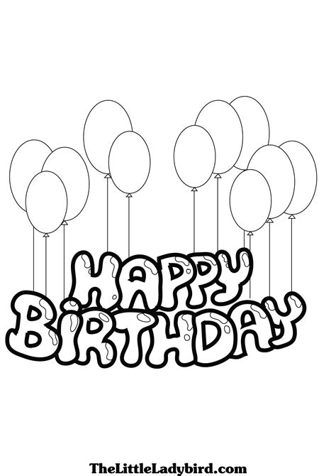 coloring pages of happy birthday balloons free printable happy birthday coloring pages 24 image