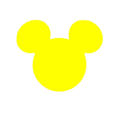 8564 Yellow Mickey Mouse bright yellow mickey clip at clker vector