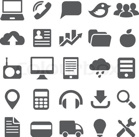 design icon vector set gray simple icons for web design stock vector