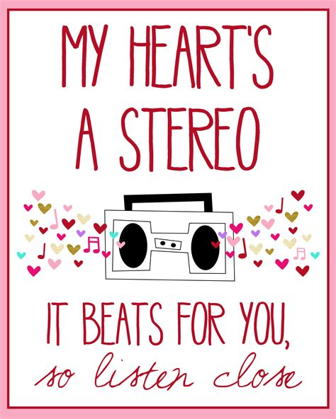 heroes printable lyrics my heart s a stereo free print gym classes gym and songs