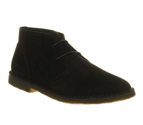 black desert boats ask the missus cookie desert boots black mono suede boots