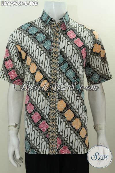 Hem Pendek Ayunda Parang Baju Hem Lengan Pendek Motif Parang Busana Batik Elegan