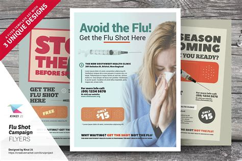 flu shot caign flyer templates flyer templates