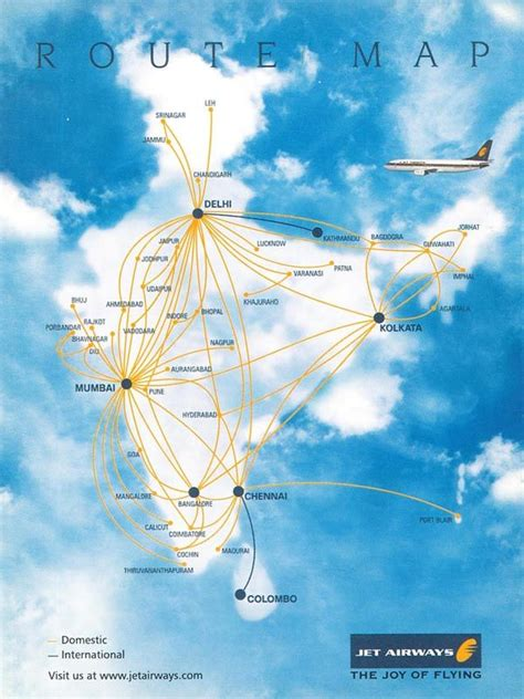 jet airways flight connection route maps   jet