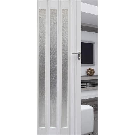 Concertina Doors Pillar Products 85 X 203cm White Platinum Pvc Concertina Door