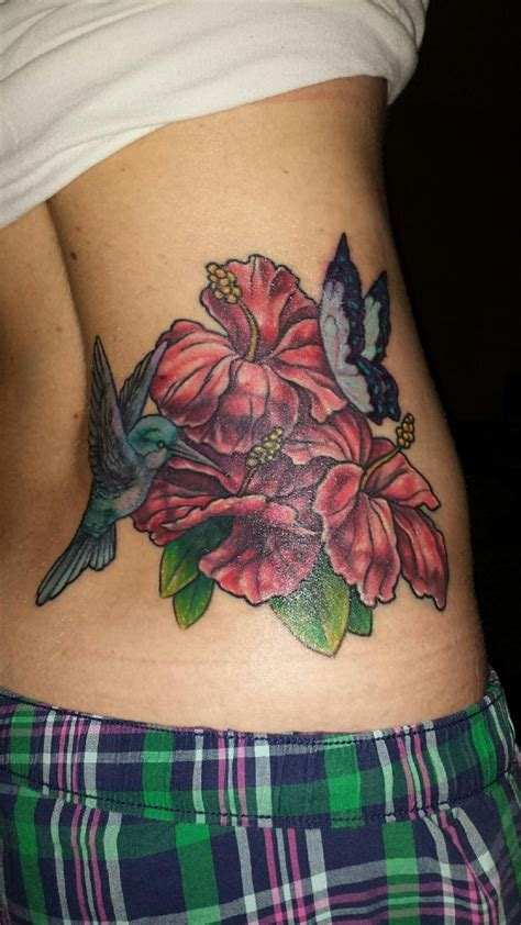 hibiscus hummingbird tattoo designs my artist coverup hibiscus hummingbird