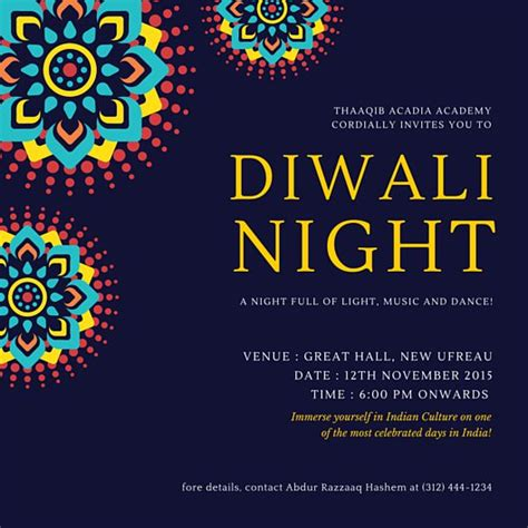 diwali invitation card templates diwali invitation card templates by canva