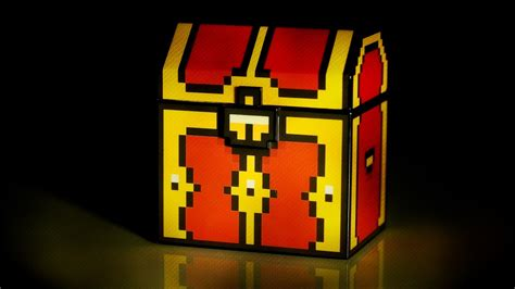 like thinkgeek legendary 8 bit treasure chest with leds and sound from thinkgeek