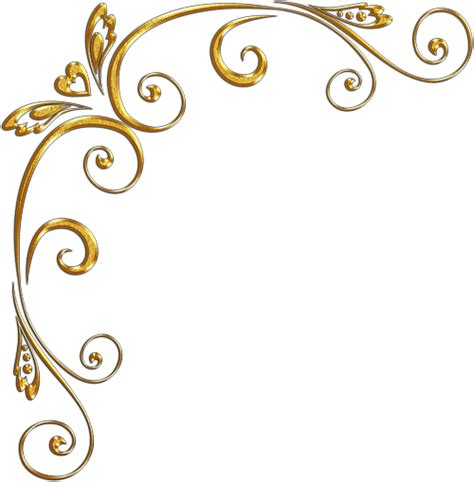 tattoo warna png gold swirls png gold corners золотые уголки png 187 allday