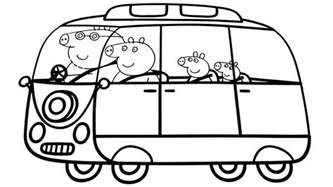 peppa pig family car coloring book coloring pages video kids