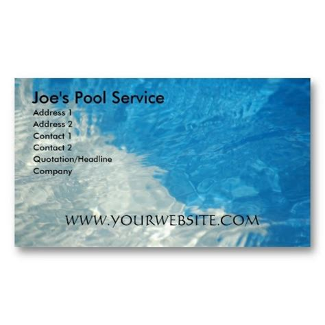 Swimming Pool Business Card Templates by 16 Best Images About Swimming Pool Business Cards On