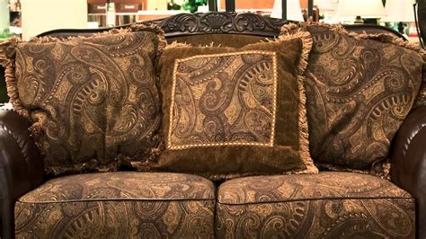 ashley fresco durablend antique fresco durablend antique sofa and loveseat refil sofa