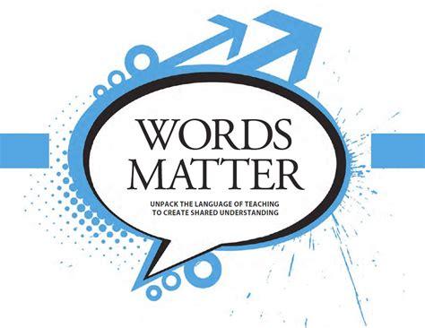 www matter words matter learning forward