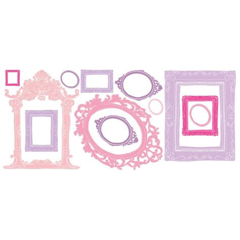 stick frames to wall pink purple frames peel stick wall decals free