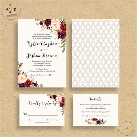 Floral Wedding Invitations by 25 Best Ideas About Floral Wedding Invitations On