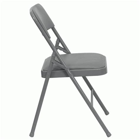 Metal Fold Up Chairs by Gray Metal Folding Chair With Gray Vinyl