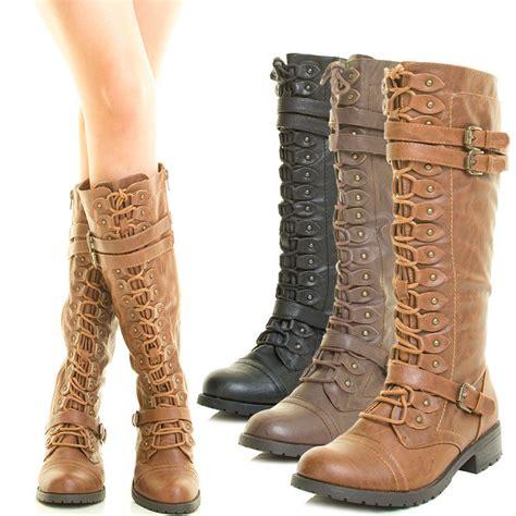 combat boot mid calf knee high