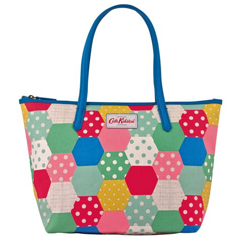 Cath Kidston Patchwork - cath kidston leather trim tote medium patchwork